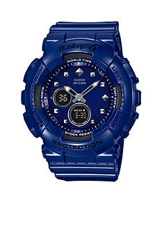Baby-G Women's Blue With Stud Markers Watch