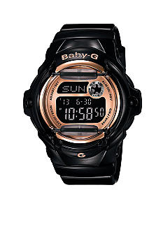 G-Shock Black Jelly with Rose Gold Face Baby G