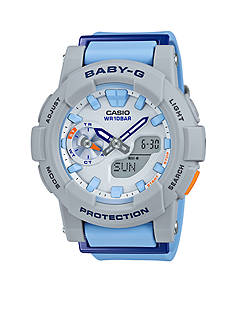 Baby-G Women's Light Blue Ana-Digi Runners Watch