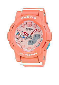 Baby-G Women's Light Pink Ana-Digi Runners Watch
