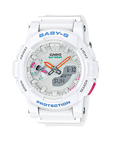 Baby-G Women's White Ana-Digi Runners Watch