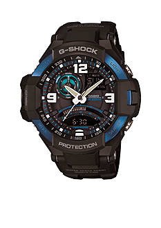 G-Shock Black Gravity Master Blue IP Bezel Watch
