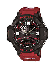 Gravity Master Ana-Digi G-Shock Red Band Watch