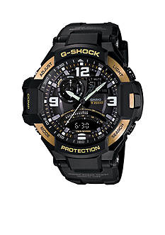 Black and Gold Bezel Ana-Digi G-Shock Watch