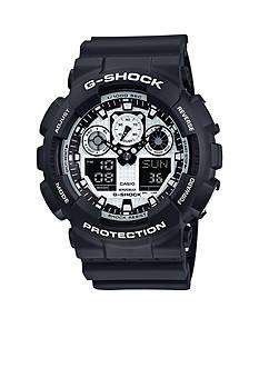 G-Shock Black and White Ana-Digi Watch