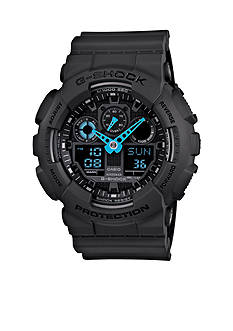 G-Shock Gray XL Blue Hands Watch