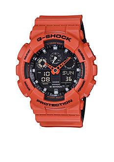 G-Shock Men's Orange and Black Watch