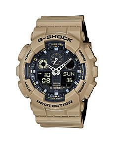 Men's Sand G-Shock with Black Accent Watch