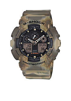 G-Shock Men's Brown Marbled Ana-Digi Watch