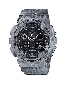 G-Shock Men's Grey Marbled Ana-Digi Watch