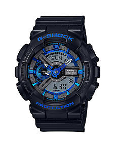 Men's Black with Blue Camo Ana-Digi G-Shock Watch