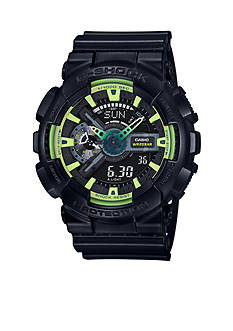 G-Shock Men's Black with Lightning Yellow Watch