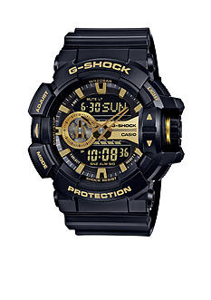 G-Shock Men's Black and Gold Rotary Watch