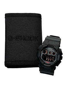G-Shock Black Out Watch and Wallet Gift Set