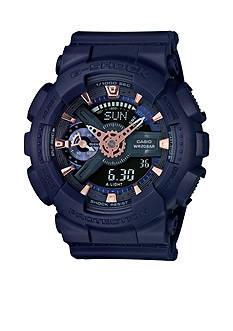 G-Shock Women's Navy Blue Ana-Digi S Series Watch