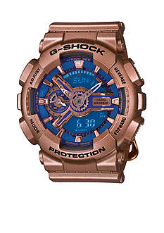 Women's Gold and Blue Face S Series G-Shock Watch