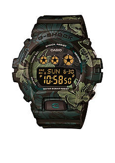Green Floral Print S Series G-Shock Watch