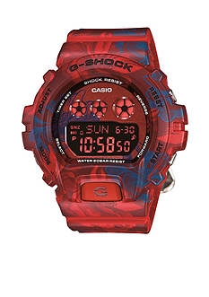 Red Floral Pattern S Series G-Shock Watch