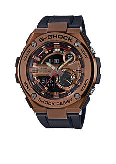 G-Shock Men's Rose Gold and Black G-Steel Watch