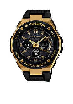 G-Shock Men's Black and Gold-Tone G-Steel Watch