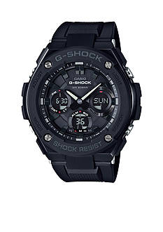 Men's Blackout G-Steel with Resin Band G-Shock Watch