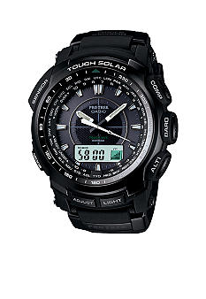 Casio Analog Blackout Pro Trek Watch