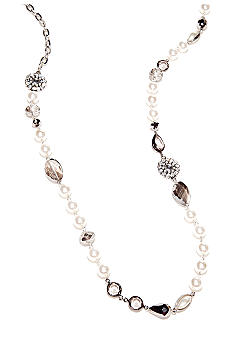 Kim Rogers® Pearl and Black Diamond Strand Necklace