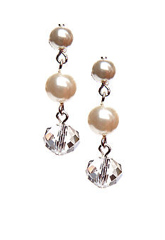 Kim Rogers® Pearl Two-Bead Drop Earrings