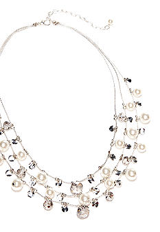 Kim Rogers Pearl and Disc Short Statement Necklace