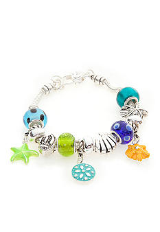 Kim Rogers Multi Colored Glass Sealife Bracelet