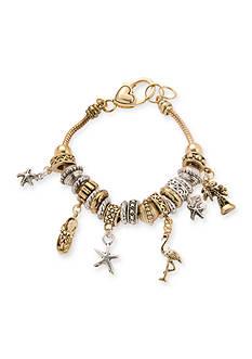 Kim Rogers Two Tone Sea Life Charm Bracelet