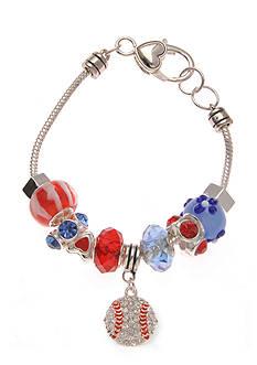 Kim Rogers Silver-Tone Baseball Charm Bracelet