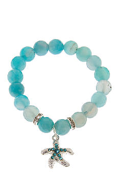 Kim Rogers Boxed Blue Genuine Stone Sea Life Stretch Bracelet