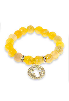 Kim Rogers Natural Yellow Genuine Stone Stretch Bracelet