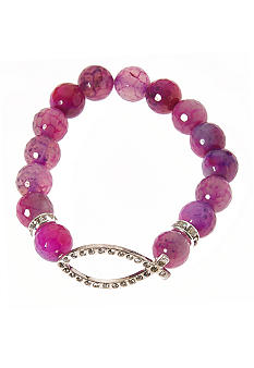 Kim Rogers Purple Genuine Stone Stretch Bracelet