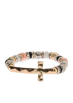 Kim Rogers Tri Tone Glass Stretch Bracelet