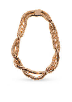 Kim Rogers Gold-Tone Snake Chain Magnetic Collar Necklace