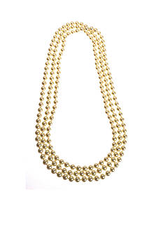 Kim Rogers Gold-tone Bead Rope Necklace
