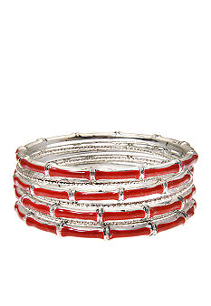 Kim Rogers 7 Row Red Epoxy Bangles