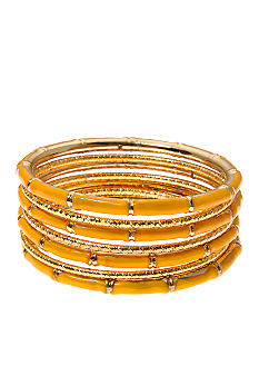 Kim Rogers 7 Row Yellow Epoxy Multiple Bangles