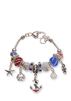 Kim Rogers Silver-Tone Sea Life Charm Bracelet