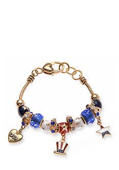 Kim Rogers Gold-Tone USA Charm Bracelet
