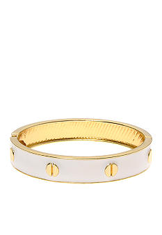 Kim Rogers White and Gold Epoxy Cuff Bangle