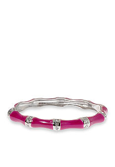 Kim Rogers Pink Epoxy Bangle with Crystal Inlay