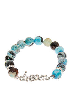 Kim Rogers Fire Agate Dream Pave Stretch Bracelet