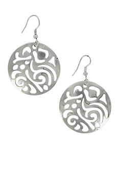 Erica Lyons Must-Have Silver-Tone Disc Earrings