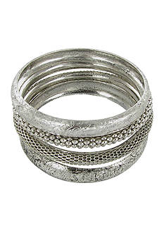 Erica Lyons Silver-Tone Bangle Bracelet Set