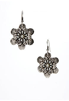 Erica Lyons Silver Flower Drop Earring