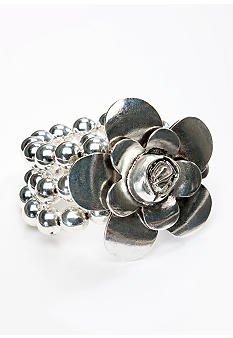 Erica Lyons Stretch Bracelet with Flower Accent