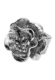 Erica Lyons Silver Flower Ring